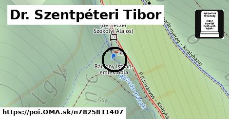 Dr. Szentpéteri Tibor emléktábla