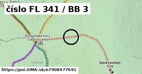 číslo FL 341 / BB 3