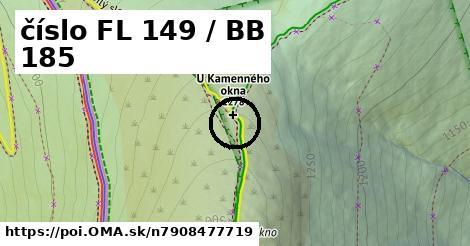 číslo FL 149 / BB 185