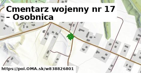 Cmentarz wojenny nr 17 – Osobnica