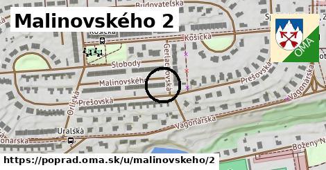 Malinovského 2, Poprad