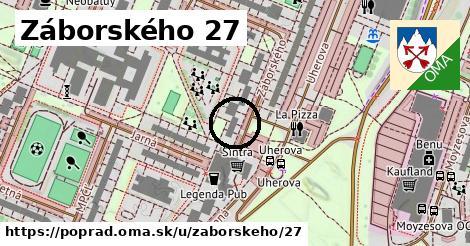 Záborského 27, Poprad