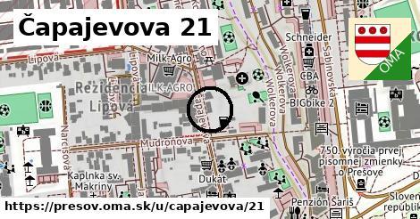 Čapajevova 21, Prešov