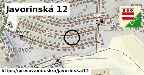 Javorinská 12, Prešov