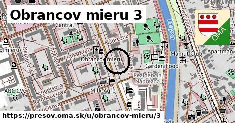 Obrancov mieru 3, Prešov
