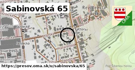 Sabinovská 65, Prešov