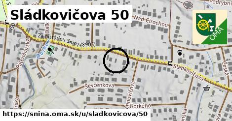 Sládkovičova 50, Snina