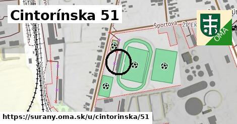 Cintorínska 51, Šurany