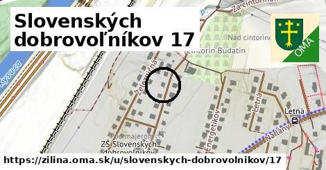 Slovenských dobrovoľníkov 17, Žilina