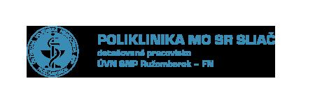 logo Poliklinika MO SR Sliač