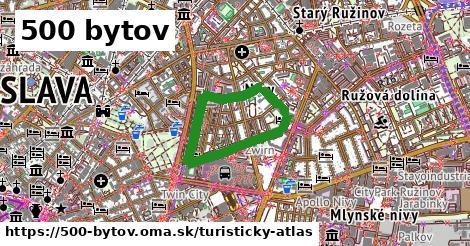 ikona 500 bytov: 0m trás turisticky-atlas  500-bytov