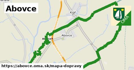 ikona Abovce: 3,2km trás mapa-dopravy  abovce