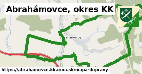 ikona Abrahámovce, okres KK: 2,3km trás mapa-dopravy  abrahamovce.kk