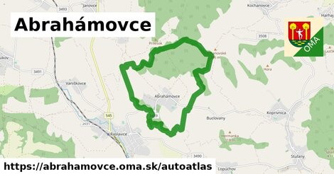 ikona Mapa autoatlas  abrahamovce