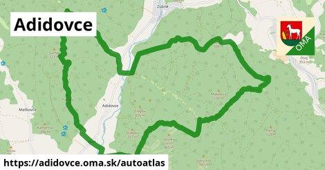 ikona Mapa autoatlas  adidovce