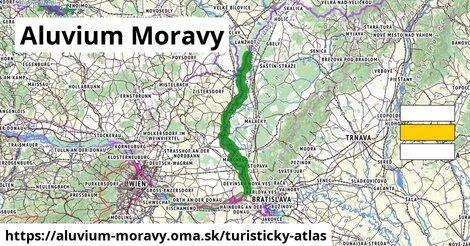 ikona Turistická mapa turisticky-atlas  aluvium-moravy