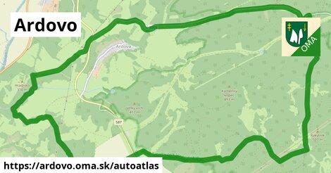 ikona Mapa autoatlas  ardovo