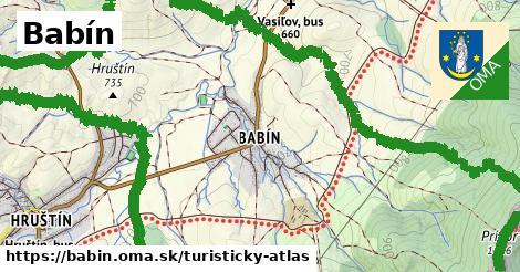 ikona Turistická mapa turisticky-atlas  babin