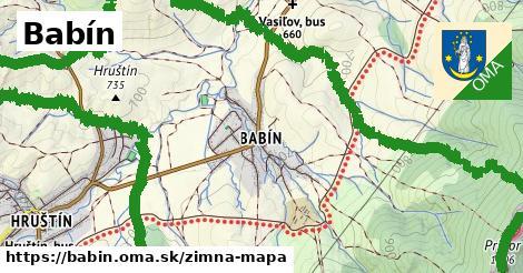 ikona Babín: 5,0km trás zimna-mapa  babin
