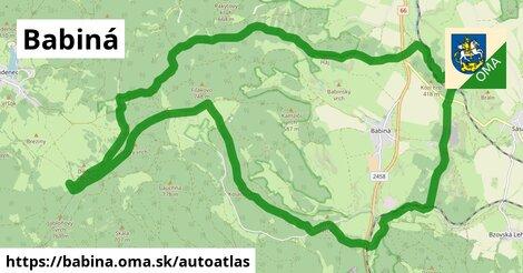 ikona Mapa autoatlas  babina