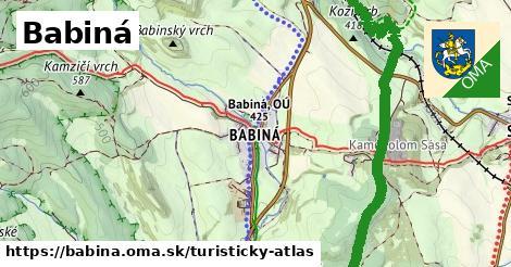 ikona Babiná: 11,0km trás turisticky-atlas  babina