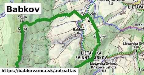 ikona Mapa autoatlas  babkov