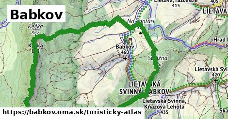 ikona Babkov: 3,4km trás turisticky-atlas  babkov