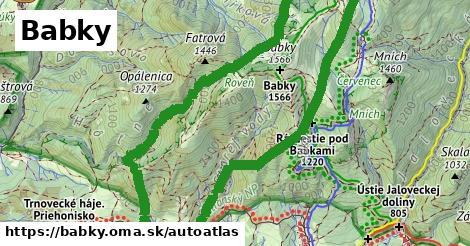 ikona Mapa autoatlas  babky