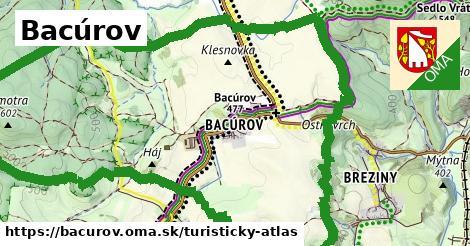 ikona Turistická mapa turisticky-atlas  bacurov