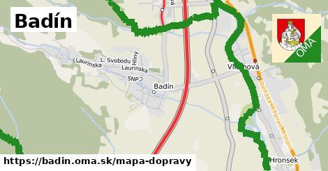 ikona Mapa dopravy mapa-dopravy  badin