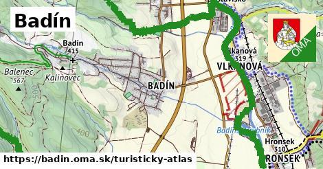 ikona Badín: 17km trás turisticky-atlas  badin
