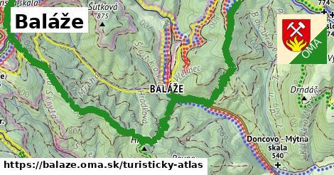 ikona Turistická mapa turisticky-atlas  balaze
