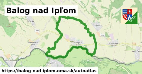 ikona Mapa autoatlas  balog-nad-iplom