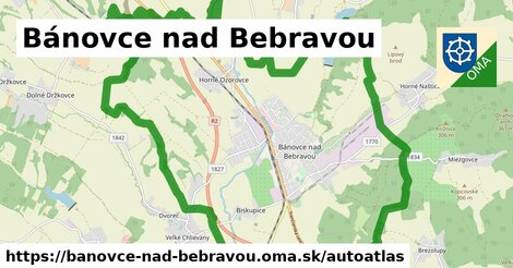 ikona Mapa autoatlas  banovce-nad-bebravou