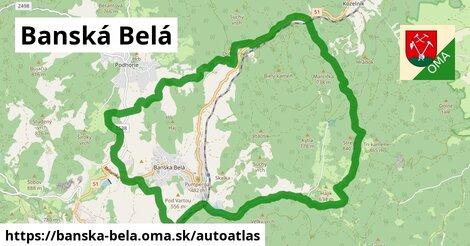 ikona Mapa autoatlas  banska-bela