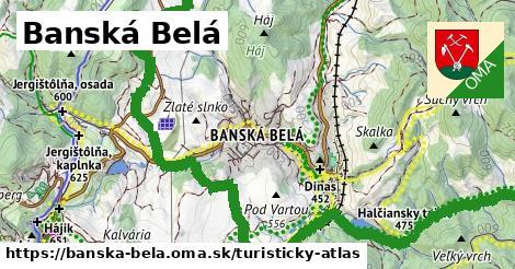 ikona Turistická mapa turisticky-atlas  banska-bela