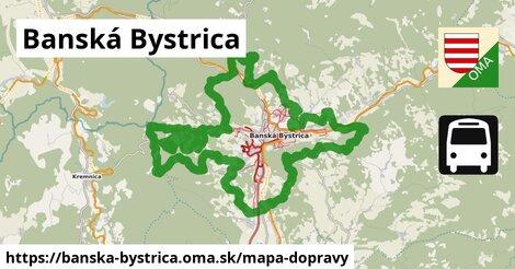 ikona Banská Bystrica: 366km trás mapa-dopravy  banska-bystrica