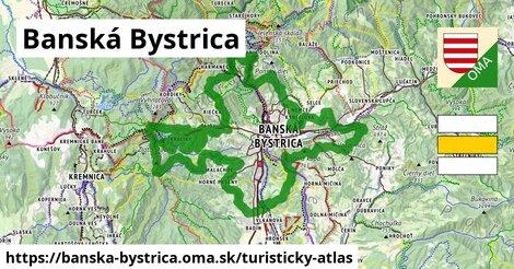 ikona Banská Bystrica: 122km trás turisticky-atlas  banska-bystrica
