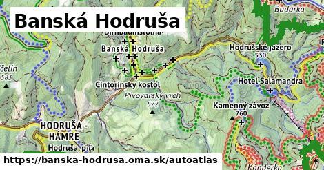 ikona Mapa autoatlas  banska-hodrusa
