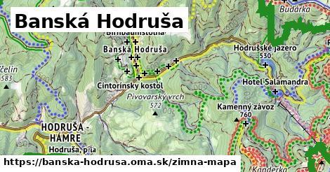 ikona Banská Hodruša: 26km trás zimna-mapa  banska-hodrusa