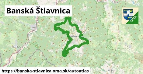 ikona Mapa autoatlas  banska-stiavnica