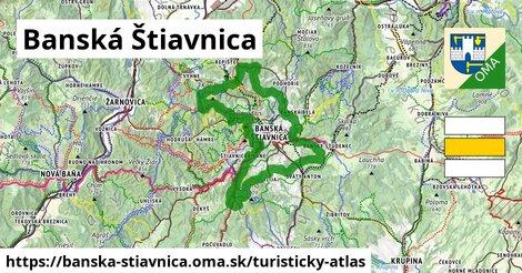 ikona Banská Štiavnica: 58km trás turisticky-atlas  banska-stiavnica