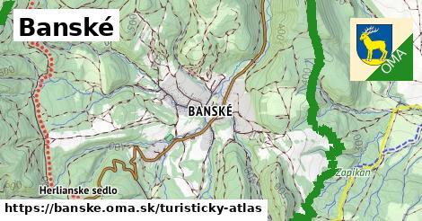 ikona Turistická mapa turisticky-atlas  banske