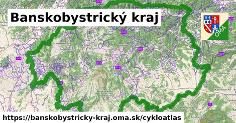 ikona Banskobystrický kraj: 3297km trás cykloatlas  banskobystricky-kraj