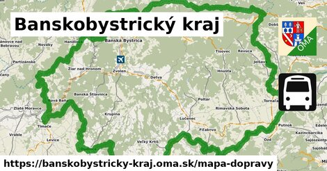 ikona Banskobystrický kraj: 1008km trás mapa-dopravy  banskobystricky-kraj