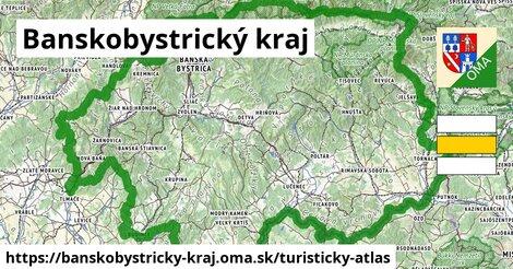 ikona Banskobystrický kraj: 4,35tisíckm trás turisticky-atlas  banskobystricky-kraj