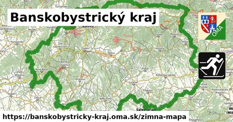 ikona Banskobystrický kraj: 509km trás zimna-mapa  banskobystricky-kraj