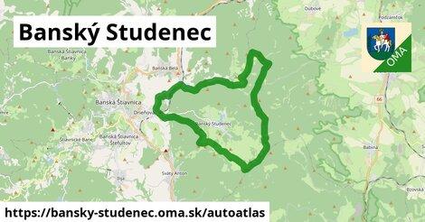 ikona Mapa autoatlas  bansky-studenec