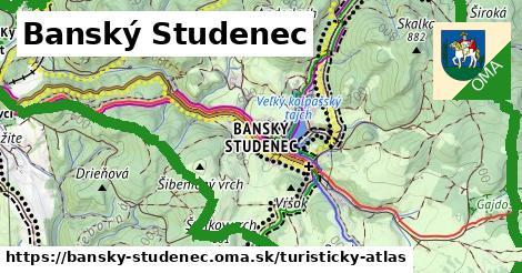 ikona Banský Studenec: 19km trás turisticky-atlas  bansky-studenec
