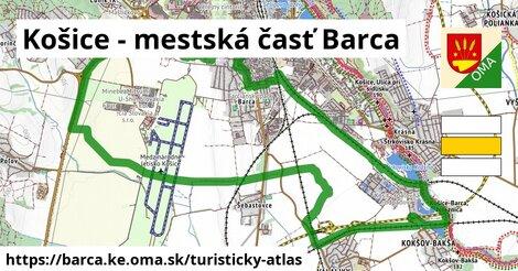 ikona Košice - mestská časť Barca: 0m trás turisticky-atlas v barca.ke